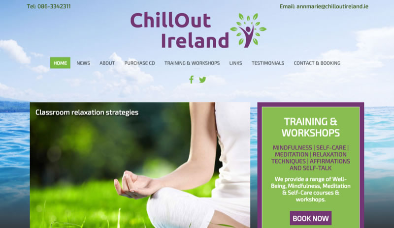 Chillout Ireland - website and booking system