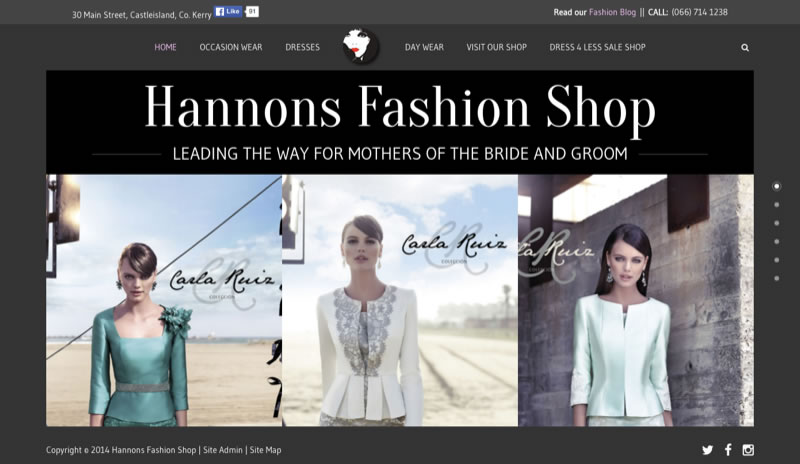 Hannon's Fashion Store Website