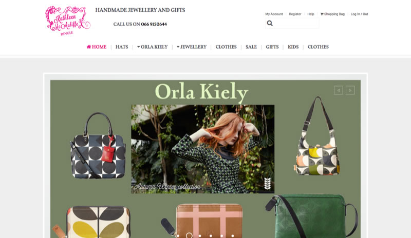 Kathleen McAuliffe - Irish E-Commerce Website