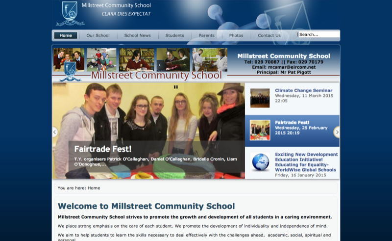 Millstreet Community School Website