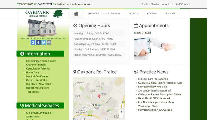 Website for Doctors Surgery Medical Centre