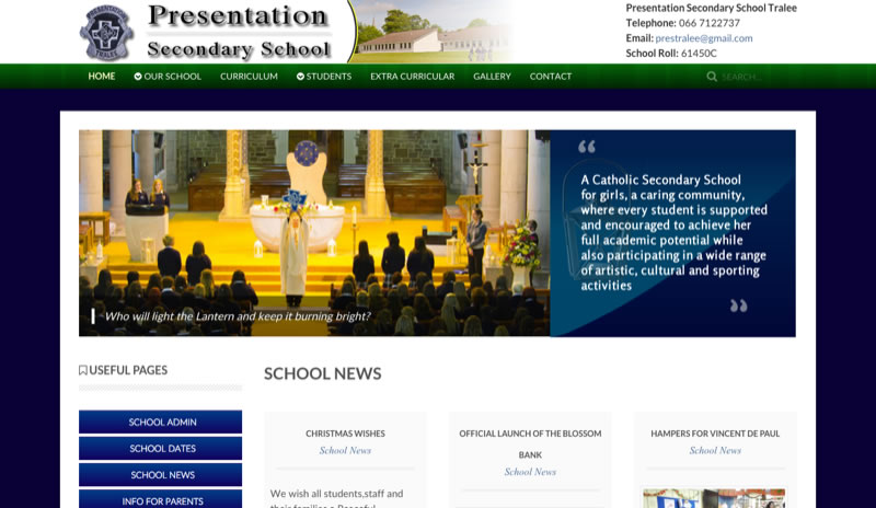 Presentation School Website Design