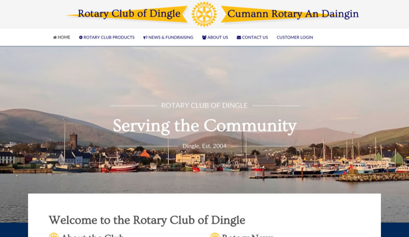 Rotary Club Dingle - simple E-commerce