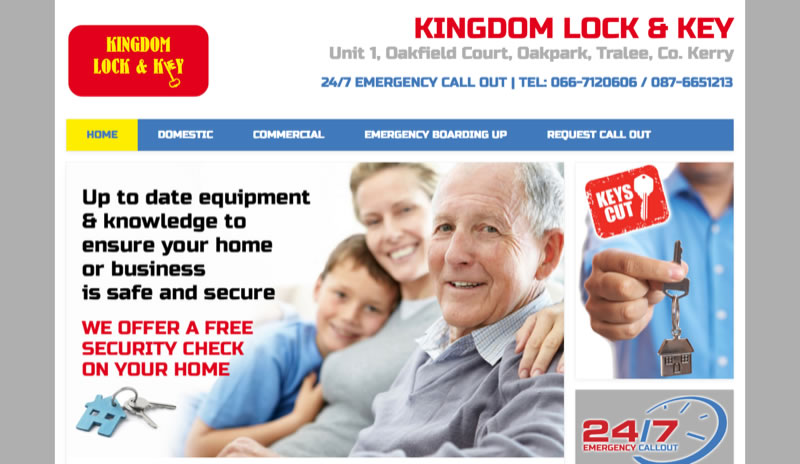 Kerry locksmith Website Design