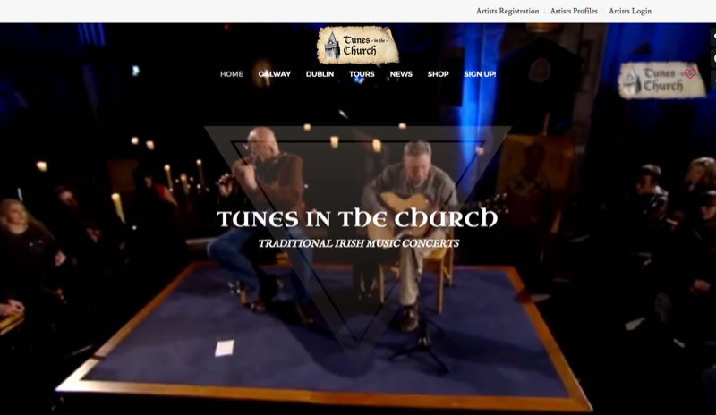Tunes in The Church - Event Booking System